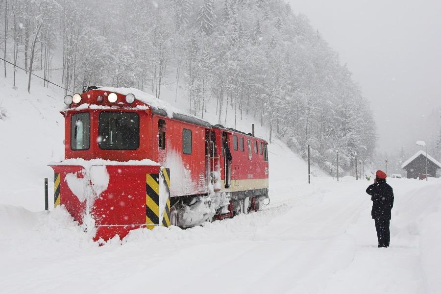 Schneepflug in Opponitz
